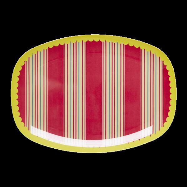 Image of Melamin serveringsfad fra RICE - Stripes (MELPL-STRIPE)
