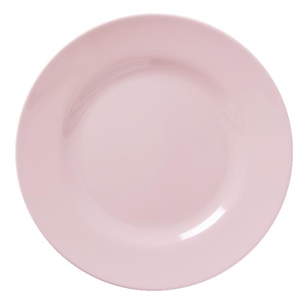 Image of Tallerken fra RICE - Melamin - Stor - Sart rosa (MELRP-SI)