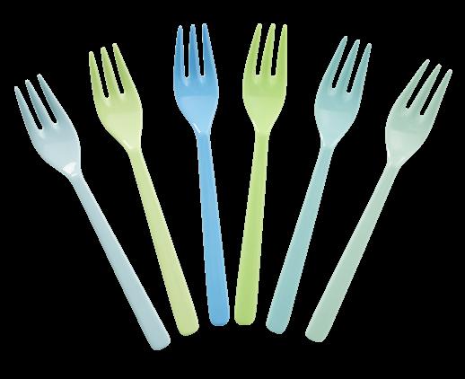 Image of Gafler fra RICE - Små - Blue Pastels (6 stk) (MESFO-6BGXC)