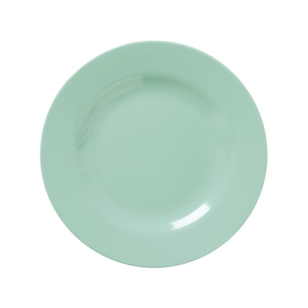 Image of   Tallerken fra Rice - Melamin - Mellem - Støvet grøn