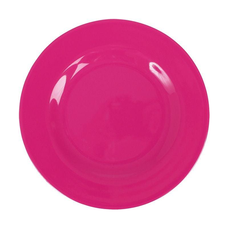 Image of   Tallerken fra Rice - Melamin - Mellem - Pink