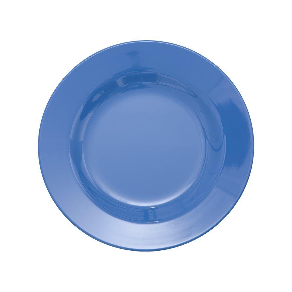 Image of Tallerken fra Rice - Melamin - Mellem - Dusty Blue (MESPL-NDB)
