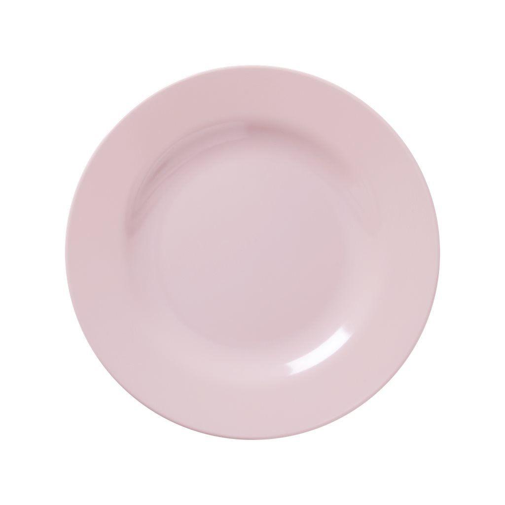 Image of   Tallerken fra Rice - Melamin - Mellem - Sart rosa