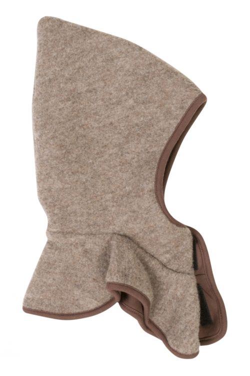 Billede af Elefanthue m. knapper fra Mikk-Line - Soft Wool - Brun melange