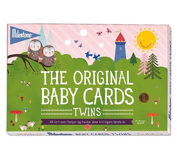 Image of Milestone Baby Cards - TWINS - Den første gang... (48 stk) (MBCT-110)