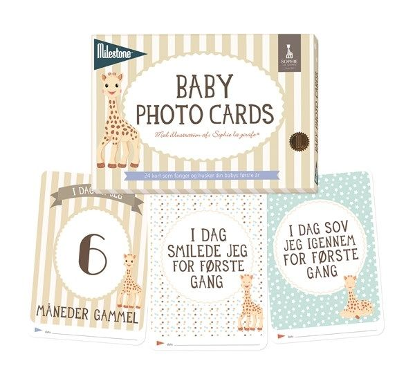 Image of Milestone Baby Photo Cards - Sophie la Girafe (MBCSLG101)