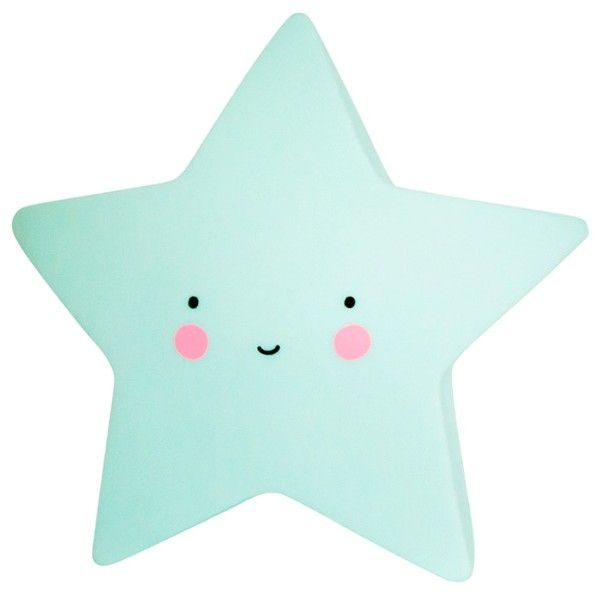 A little lovely company – Led lampe fra a little lovely company - mini star mint fra babygear.dk