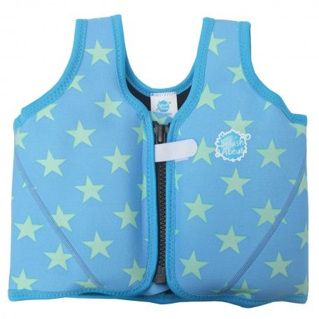 Image of   Flydejakke / Float Jacket fra Splash About - Blue with Mint Stars