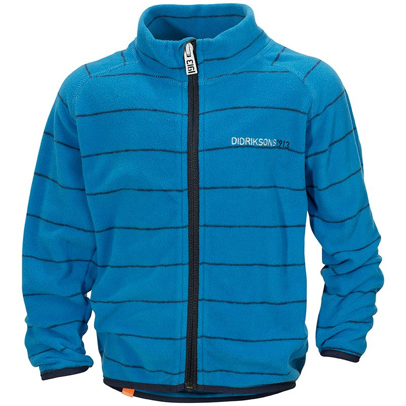 Image of   Micro Fleece trøje fra Didriksons - Monte - Teal Stripe