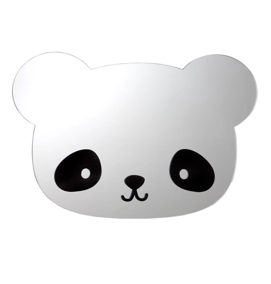 Image of Spejl fra A Little Lovely Company - Panda (MRBESI04)