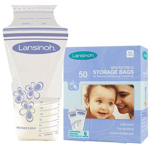 Lansinoh – Brystmælk fryseposer fra lansinoh (50 stk) fra babygear.dk