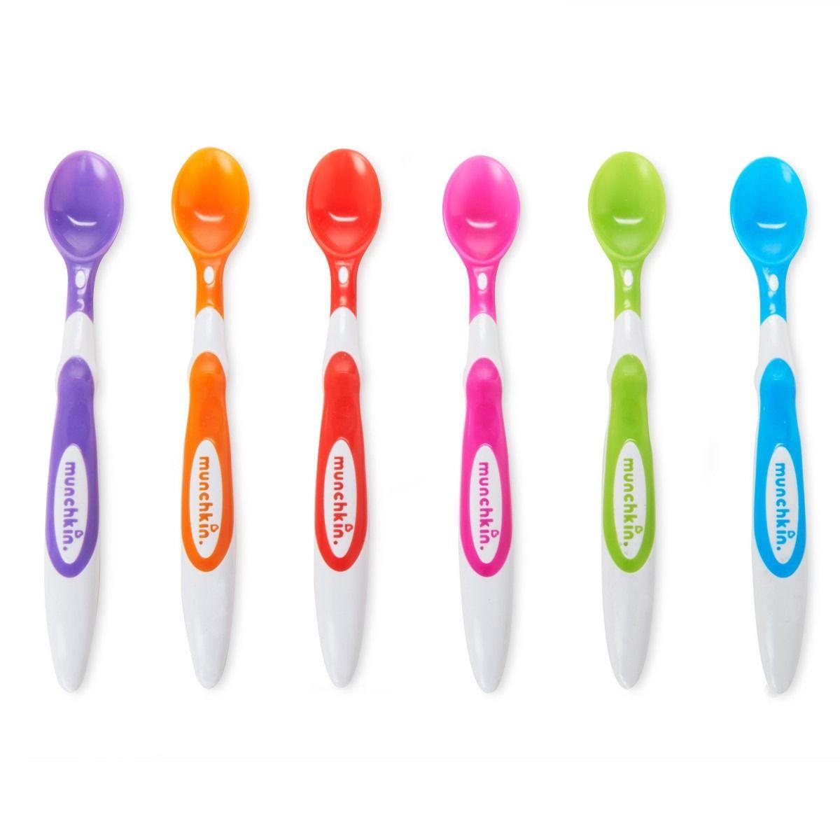 Image of Babyskeer fra Munchkin - Soft Tip Infant Spoons (6 stk) (MKN-FED14)