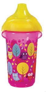 Image of   Drikkeflaske fra Munchkin - Spildsikker - Ass. Print (9m+) - Pink