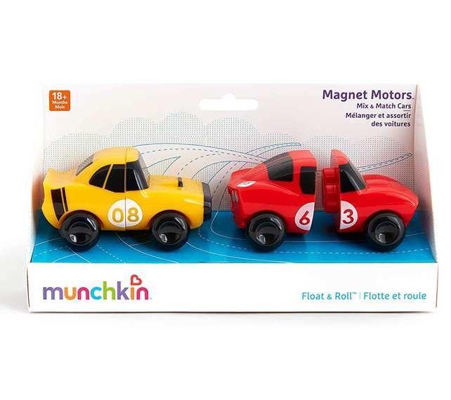 Image of Badelegetøj fra Munchkin - Magnet Motors (Gul og rød) (MKN-TOY41_gul)
