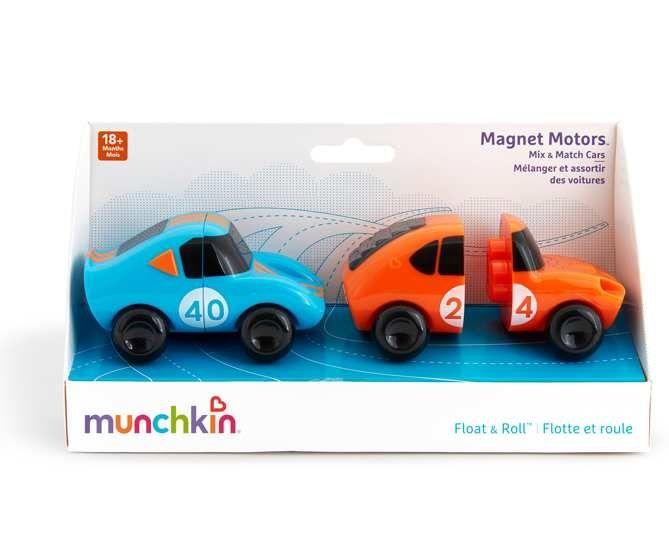 Image of Badelegetøj fra Munchkin - Magnet Motors (Blå og orange) (MKN-TOY41_blaa)