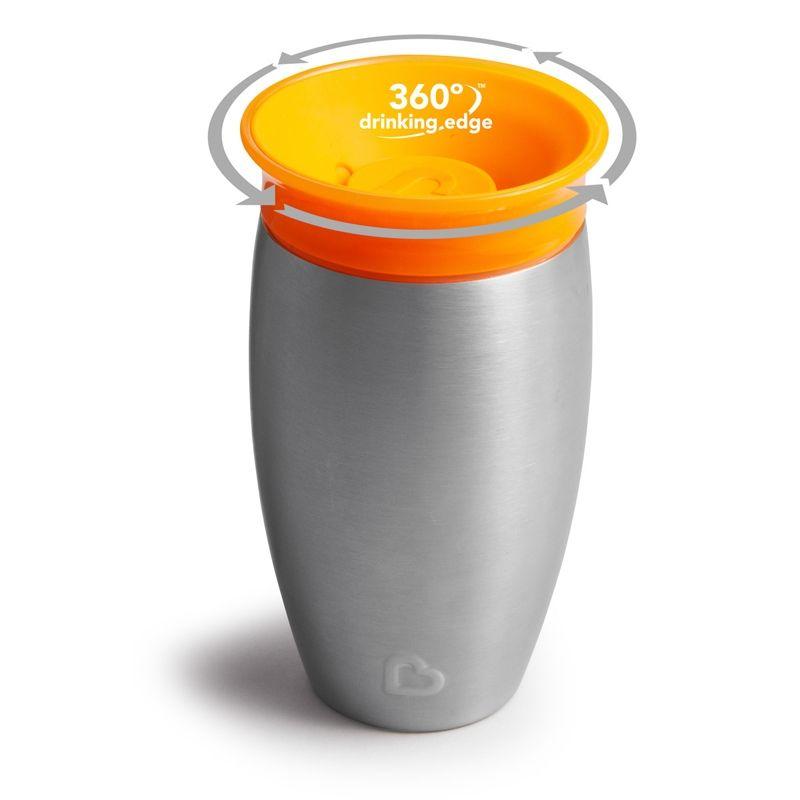 Image of   Drikkeflaske i rustfrit stål fra Munchkin - Termo - Miracle 360 - Orange