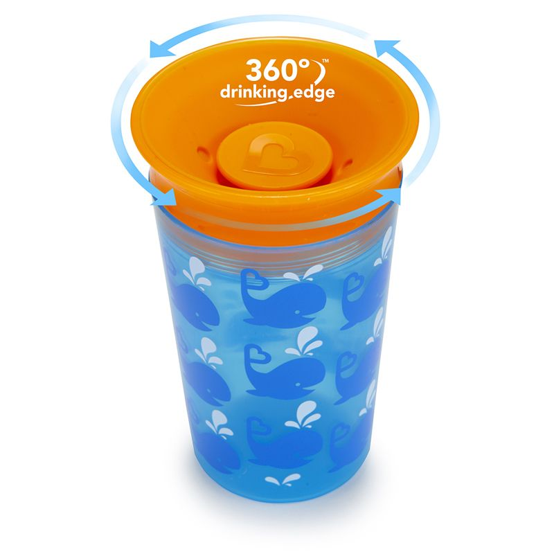 Image of   Drikketræner fra Munchkin - Spildfri Miracle 360 Sippy Cup - Whales