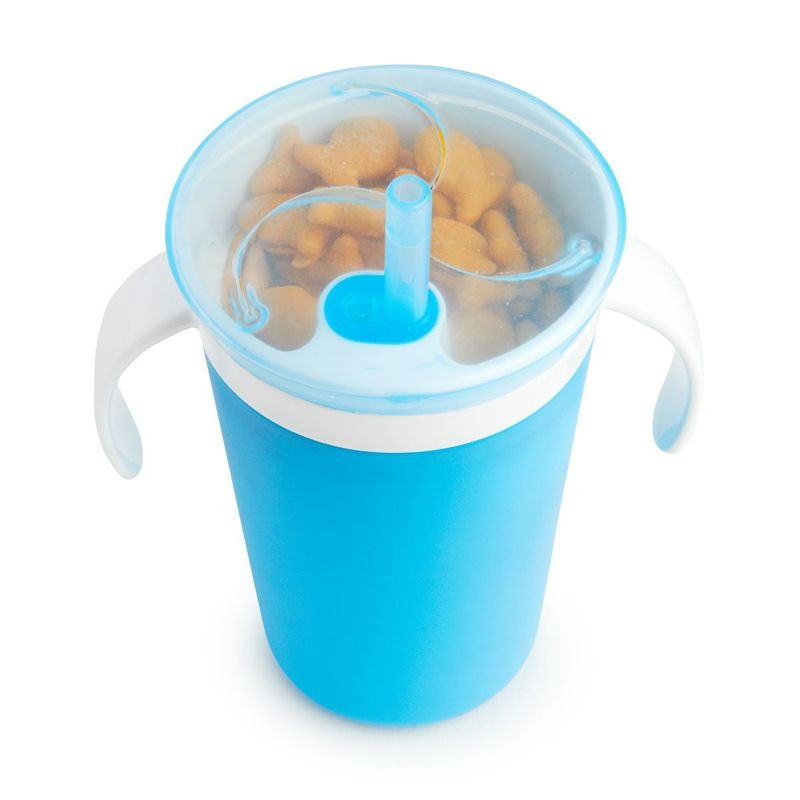Image of Kombinationskop fra Munchkin - Sippy Straw Cup and Snack Catcher (Blå) (MKN-FED02_Blaa)