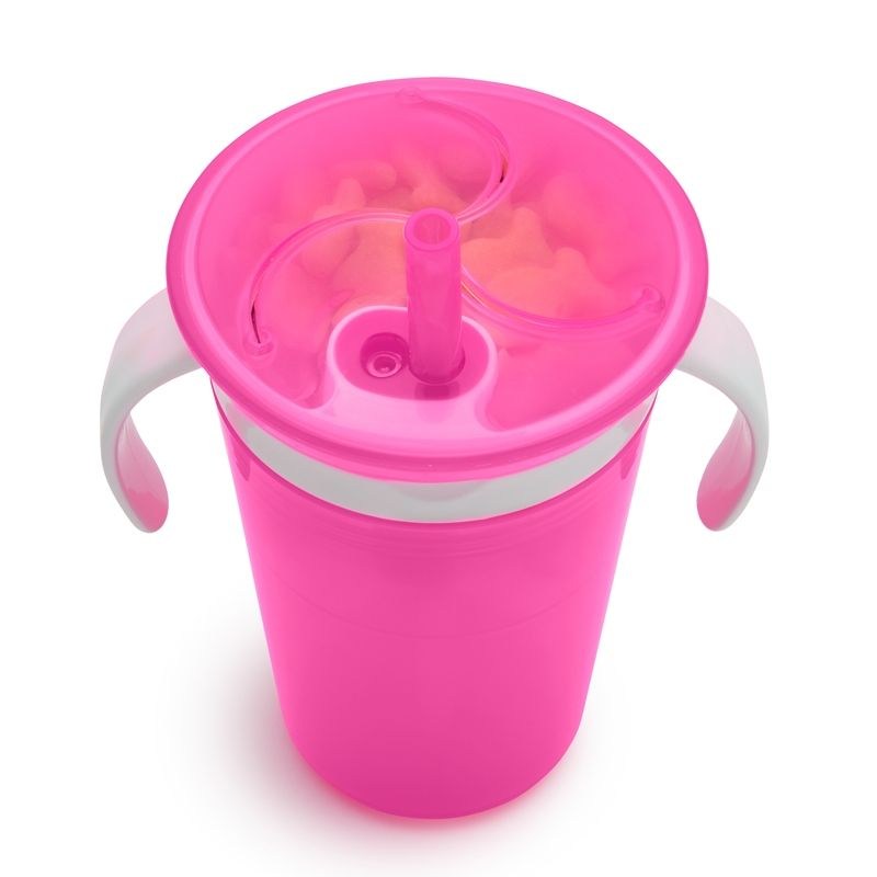 Image of Kombinationskop fra Munchkin - Sippy Straw Cup and Snack Catcher (Pink) (MKN-FED02_Pink)