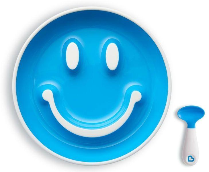 Image of Begynder tallerken m. sugekop og ske - Munchkin Smilen Scoop - Turkis (MKN-FED34_turkis)