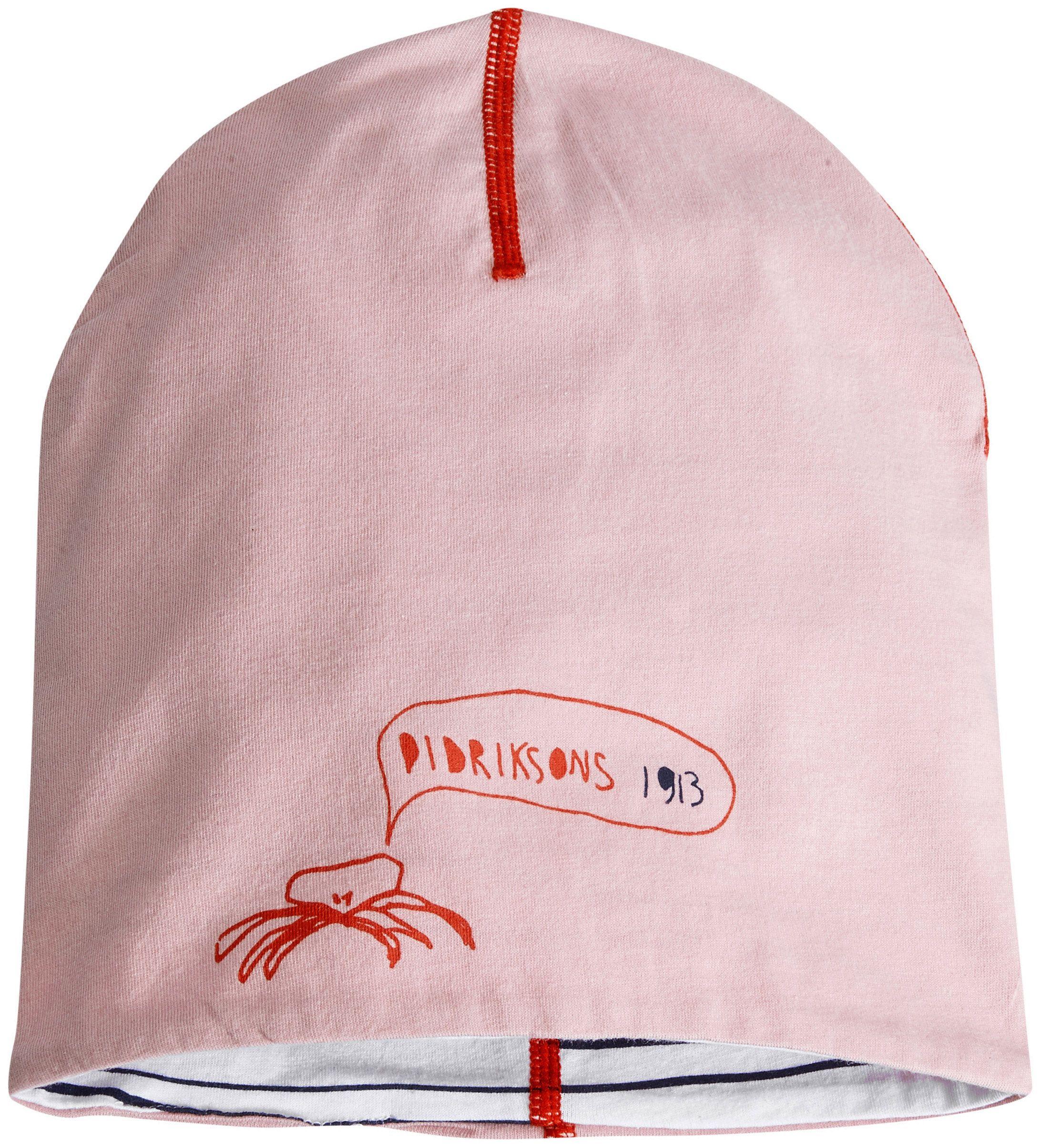 Image of   Vendbar beanie fra Didriksons - Musslan - Dusty Pink / Stripe