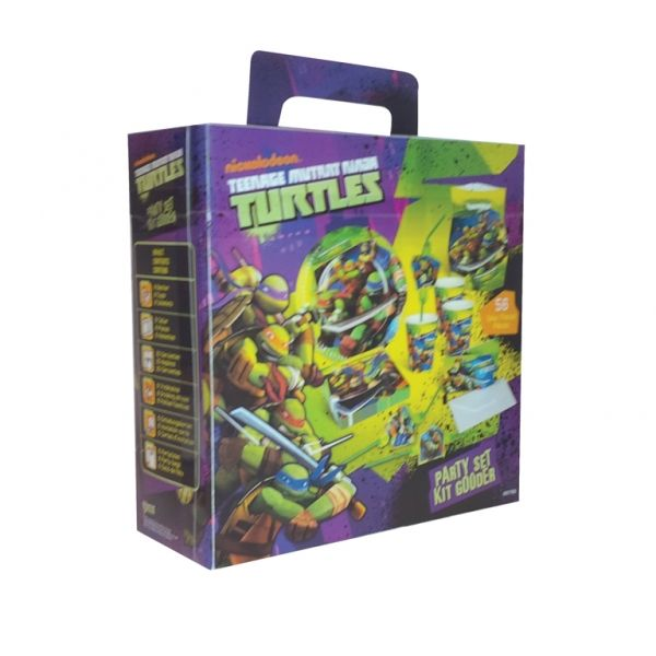 Image of   Fødselsdag Party Box 6 personer - Ninja Turtles (56 dele)