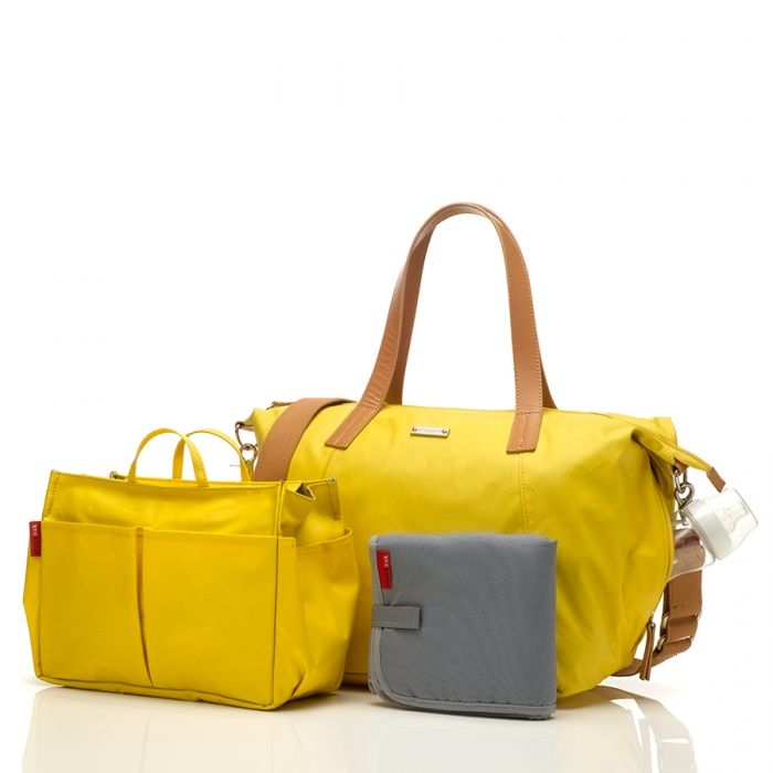 Image of   Pusletaske m. mini-organizer - Storksak Noa - Yellow