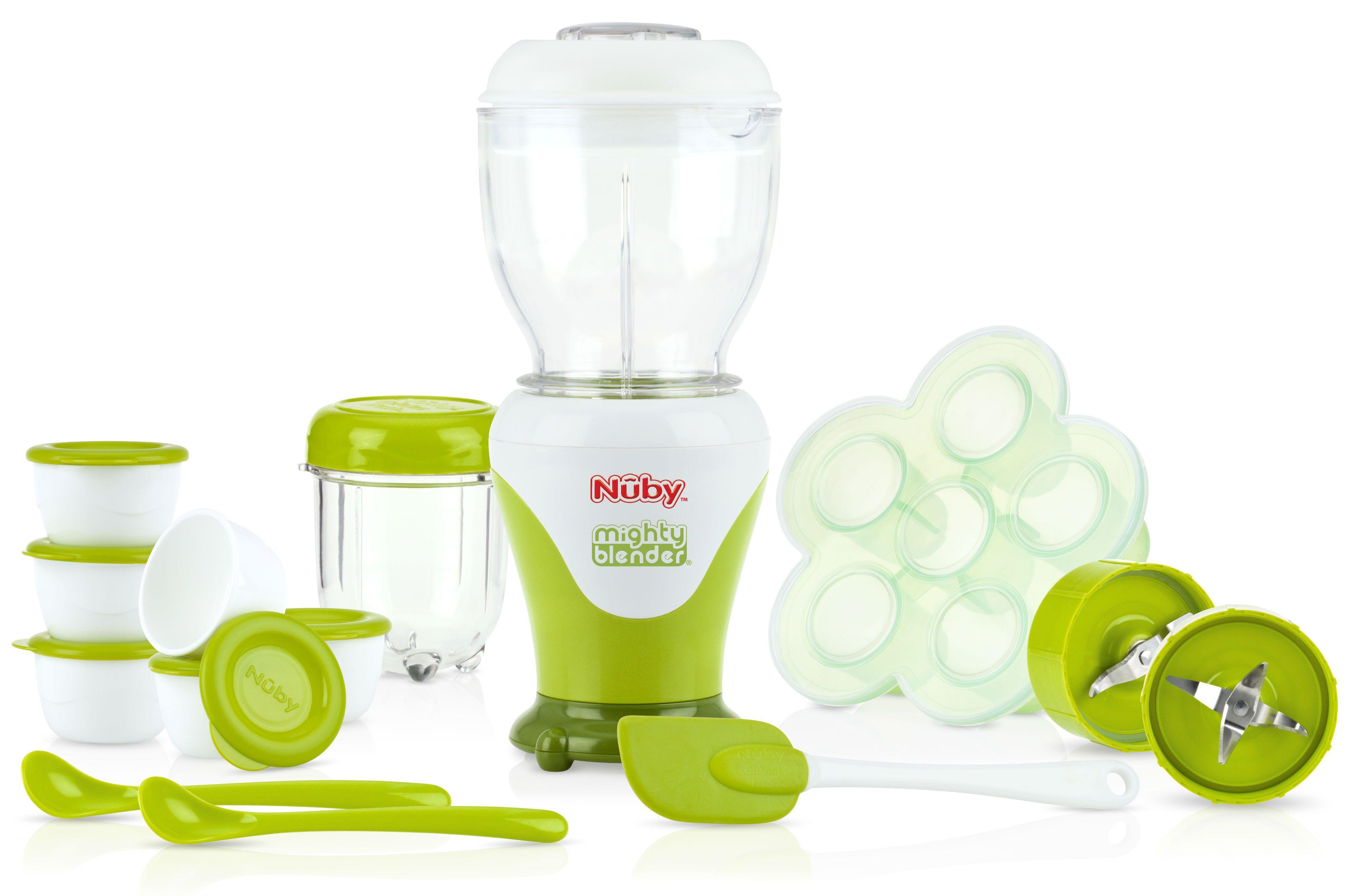 Nuby – Steamer blender fra nuby - babymadmaskine m. tilbehør (22 dele) fra babygear.dk