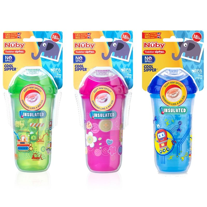 Image of Termo drikkeflaske fra Nuby - No-spill Cool Sipper (18m+) (NBY-FED07..)
