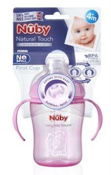 Image of   Natural Touch drikkeflaske fra Nuby (4m+) - Rosa