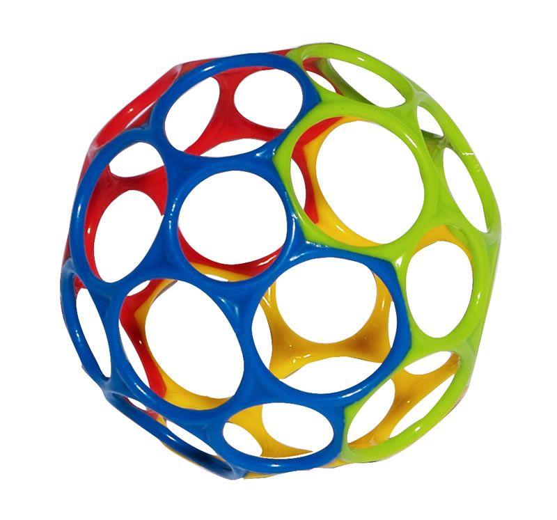 Image of Motorikbold fra Oball - Rainbow (10 cm) (81024_rainbow)