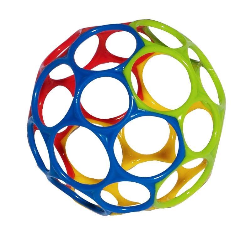 Motorikbold fra Oball - Rainbow (11 cm)