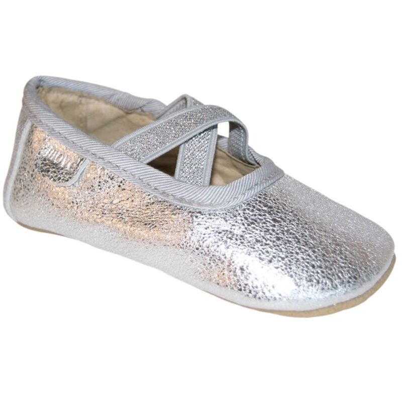 Image of Hjemmesko Ballerina - Melton Move - Silver (450105-900)