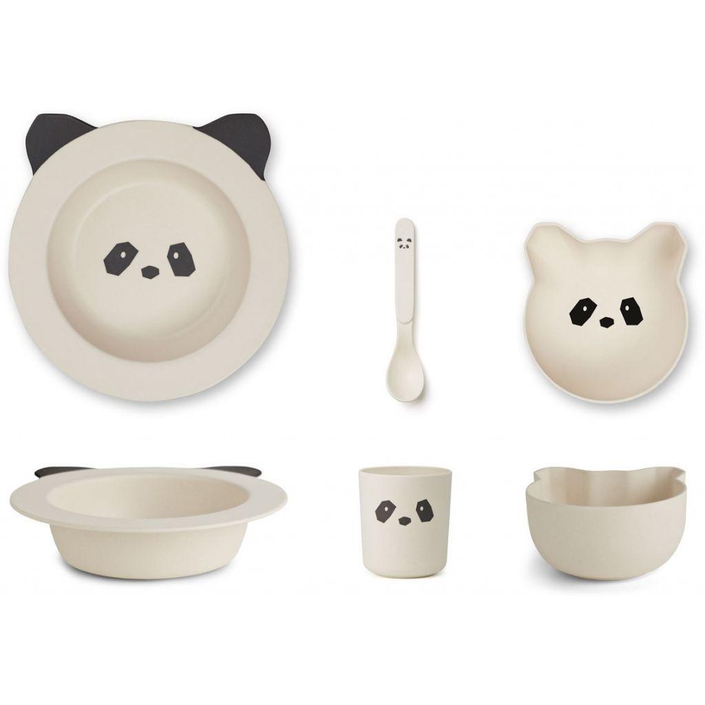 Image of   Baby spisesæt i bambus fra Liewood - Panda