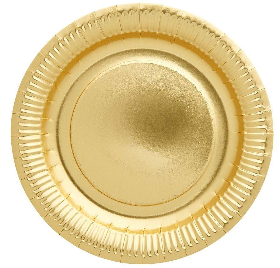 Image of   Paptallerken fra Rice - Plates of Gold (8 stk)