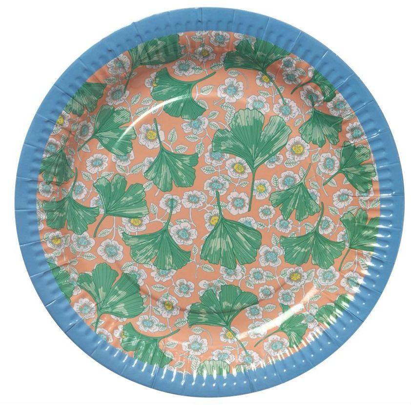 Image of   Paptallerken fra Rice - Blomster (8 stk)