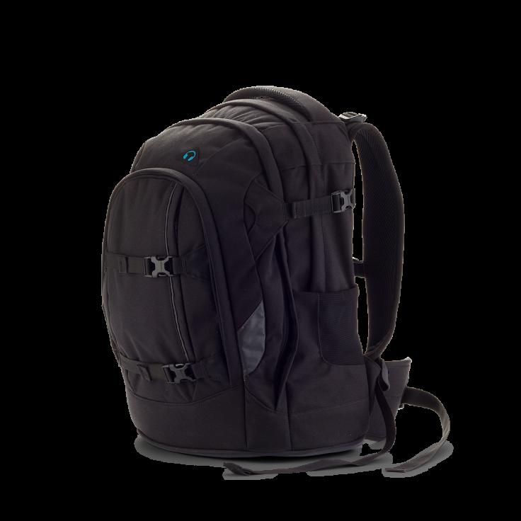 Satch – Skoletaske rygsæk - satch pack - black bounce (30l) fra babygear.dk