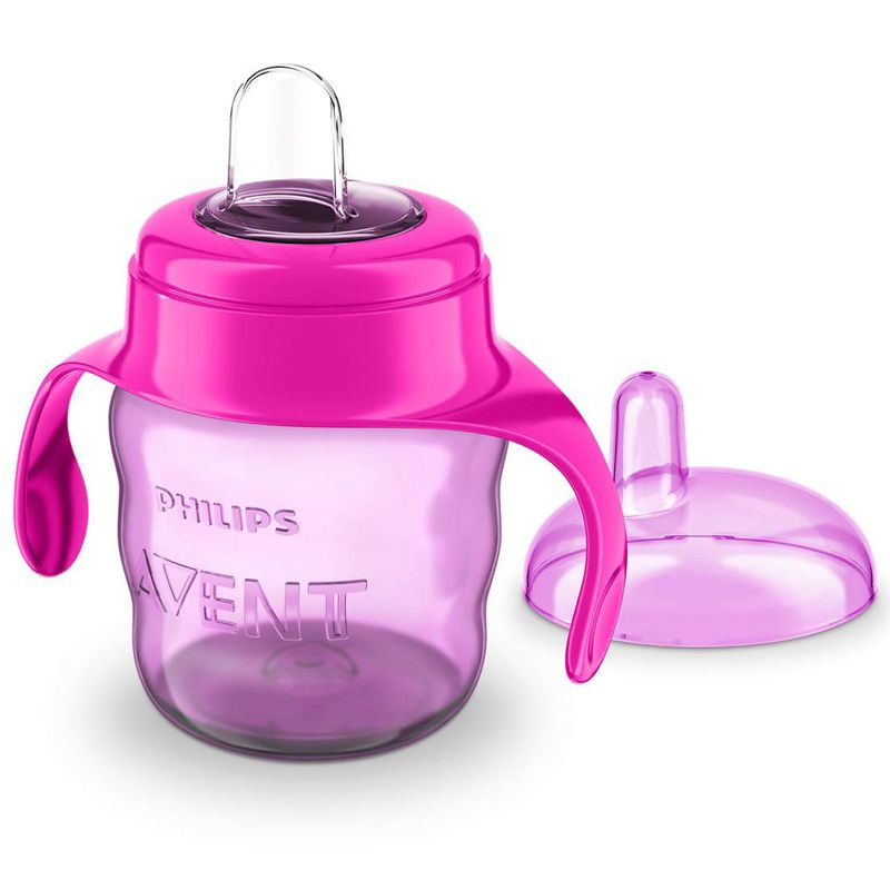 Image of   Drikkekop m. greb fra Philips Avent - Easy Sip (6m+) - Pink og lilla