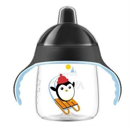 Billede af Drikkekop fra Philips Avent - Premium - Bite-resistant, No-drip (12m+) - Sort