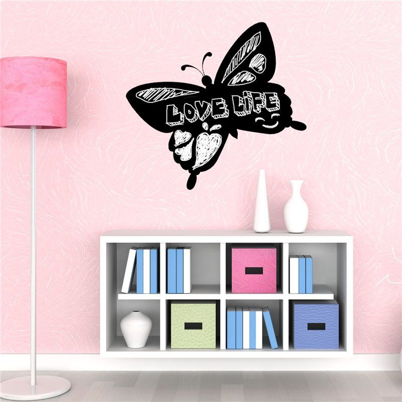 Image of   Wall sticker - Blackboard - Butterfly