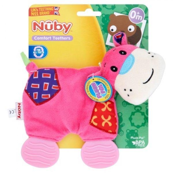 Nusse- og bidedyr fra Nuby - Plush Pal - Pink