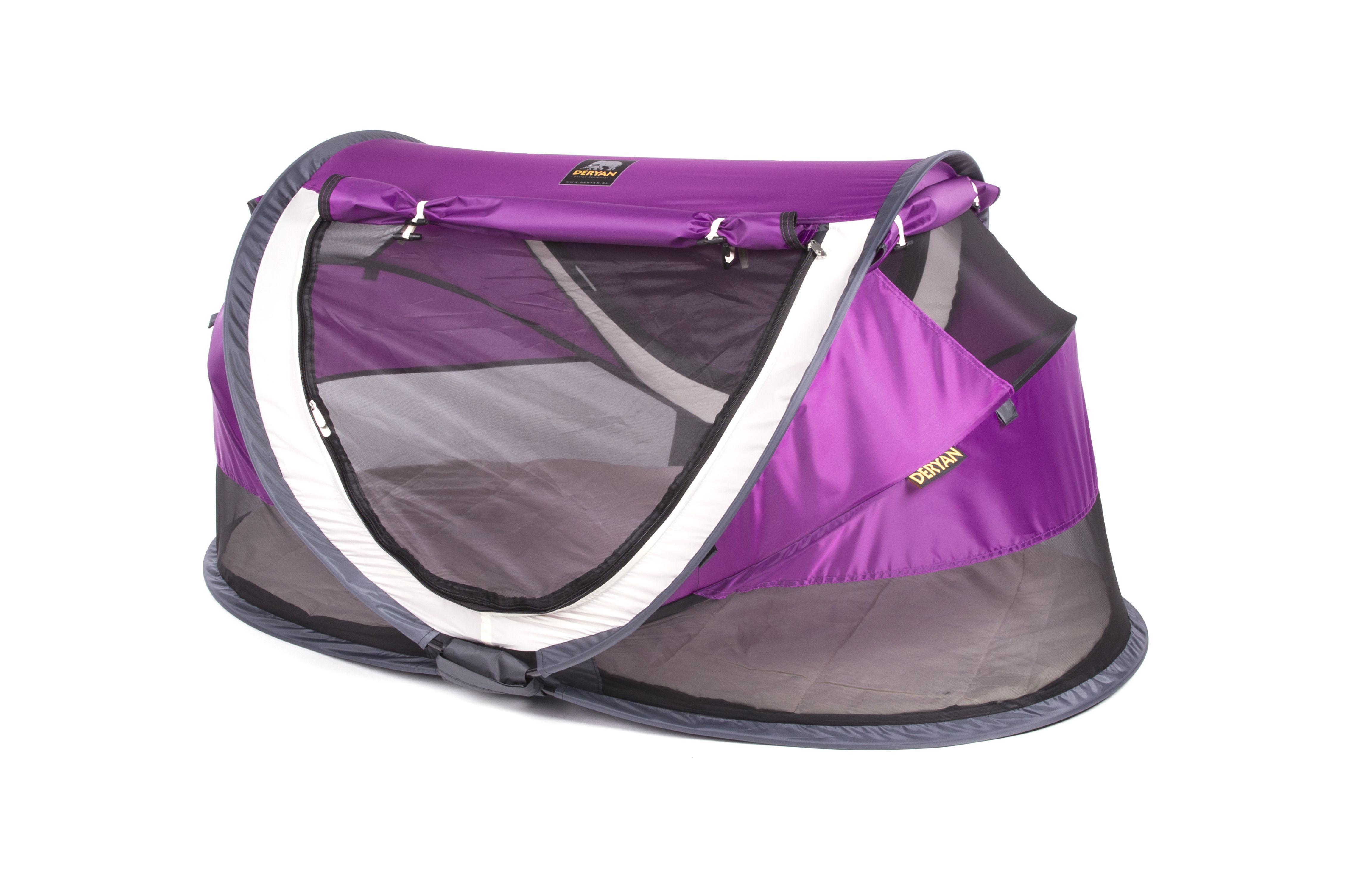 Deryan – Rejseseng fra  deryan - travel cot peuter luxe - purple fra babygear.dk