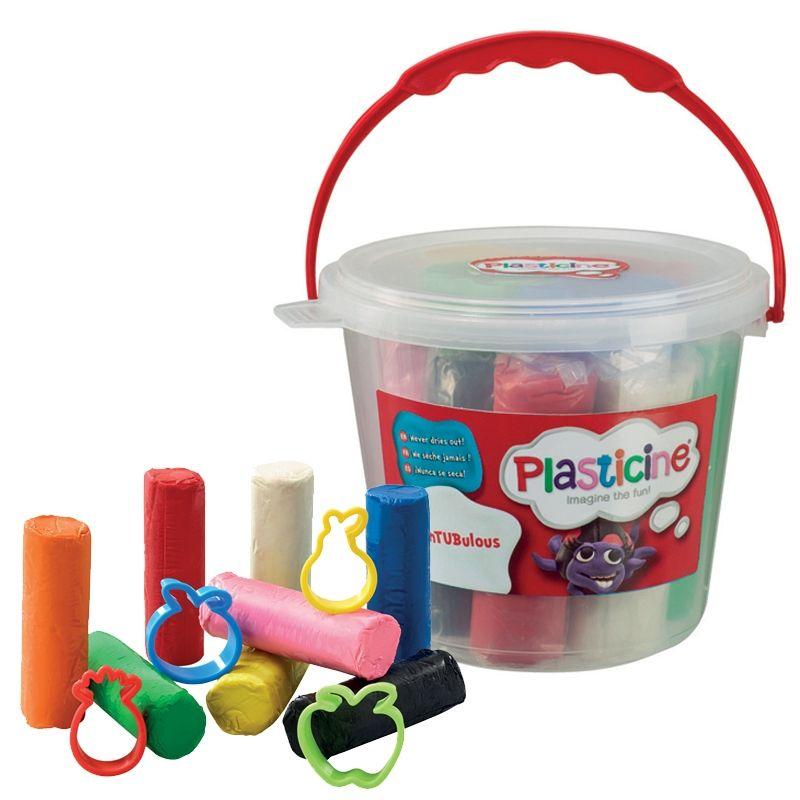 Image of Modellervoks fra Plasticine - Udtørrer ikke - FunTUBulous Mini (FLR-TOY02)
