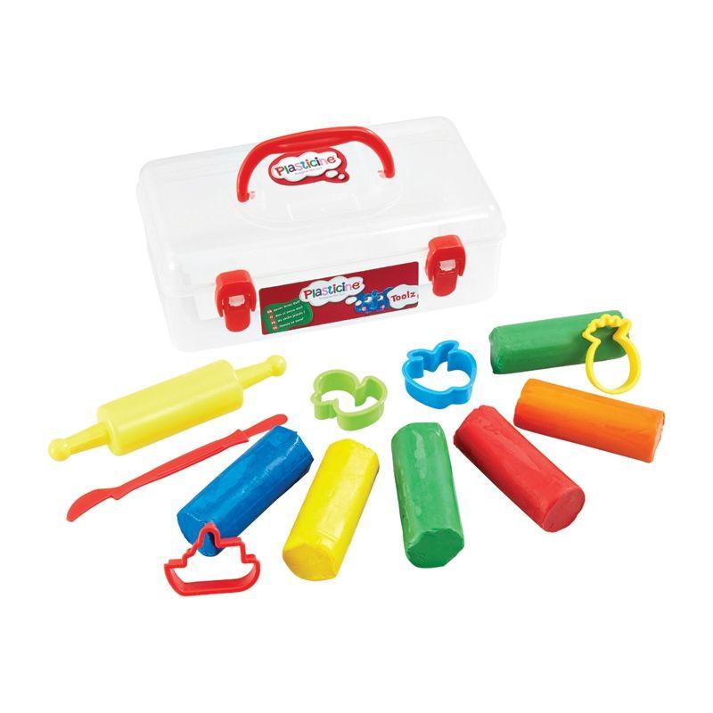 Image of Modellervoks og værktøj fra Plasticine - Udtørrer ikke - Toolz (FLR-TOY03)