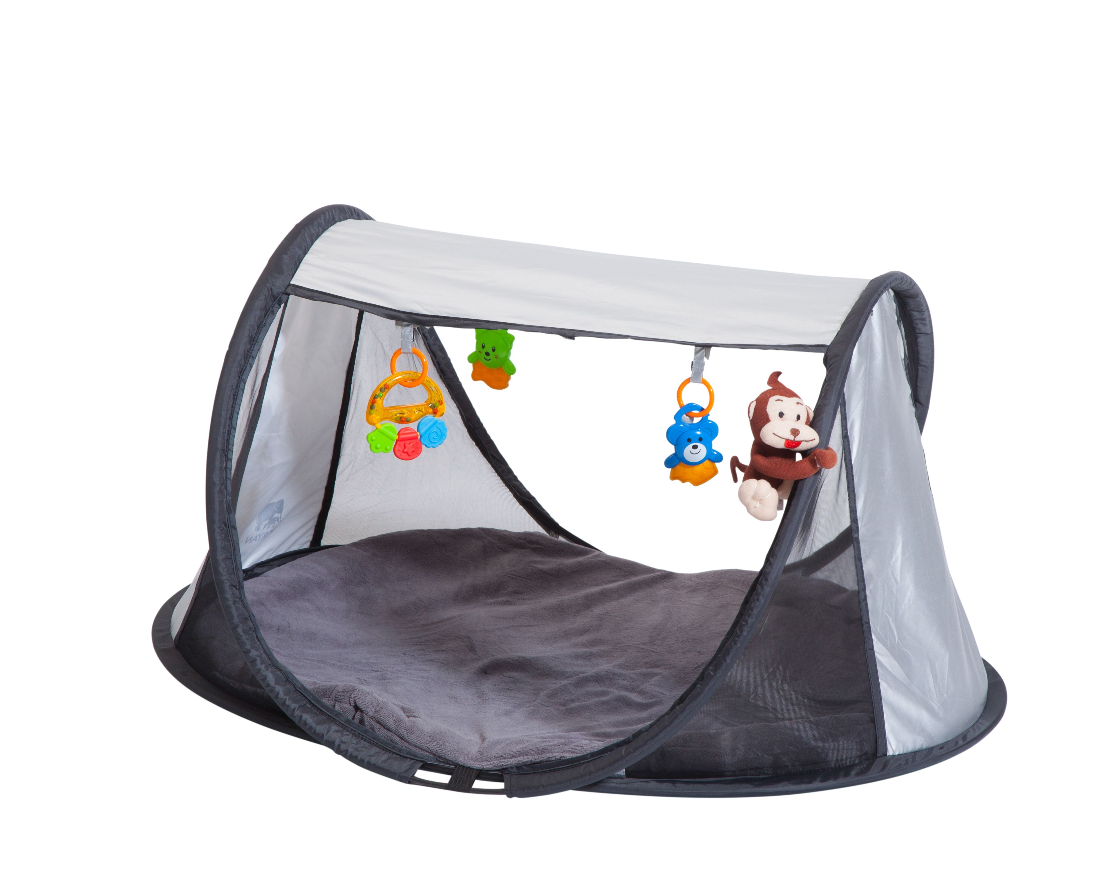 Image of Aktivitetstæppe fra Deryan - Pop-up PlayGym Silver (Pgsilver)