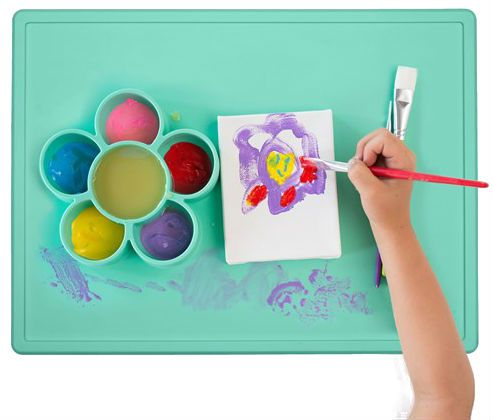Image of   Krea underlag fra Ezpz - Flower Play Mat - Mint