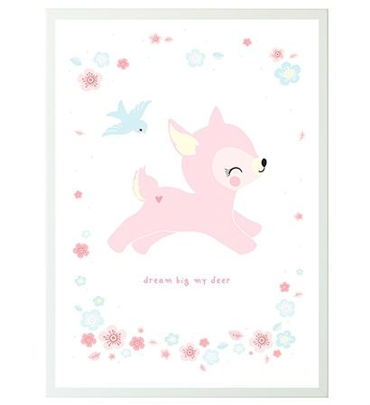 Image of Plakat fra A Little Lovely Company - Dream Big My Deer (50x70) (PODEWH34)
