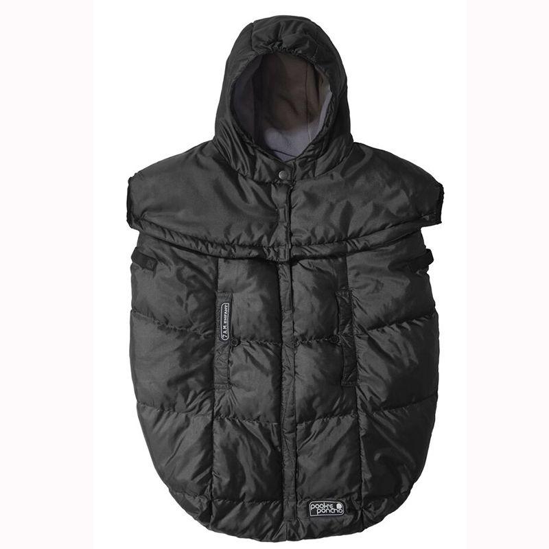 Winter Cover til klapvogn og bæresele - 7 A.M. Pookie Poncho - Black