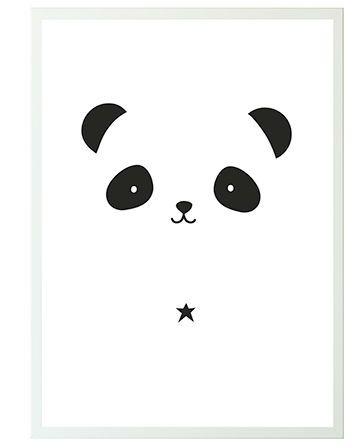 Image of Plakat fra A Little Lovely Company - Panda (50x70) (POPAWH33)