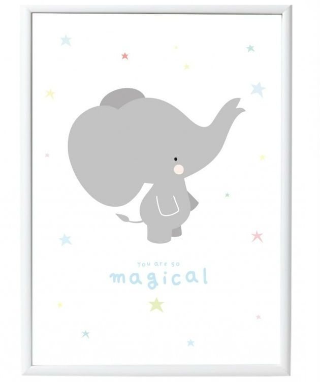 Image of Plakat fra A Little Lovely Company - Grey Elephant (50x70) (POGE026)